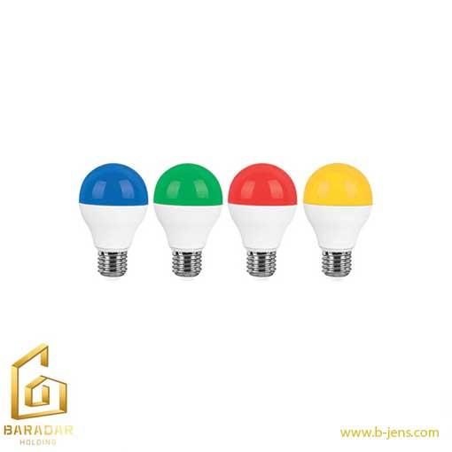 قیمت لامپ ال ای دی ۹وات حبابی رنگی