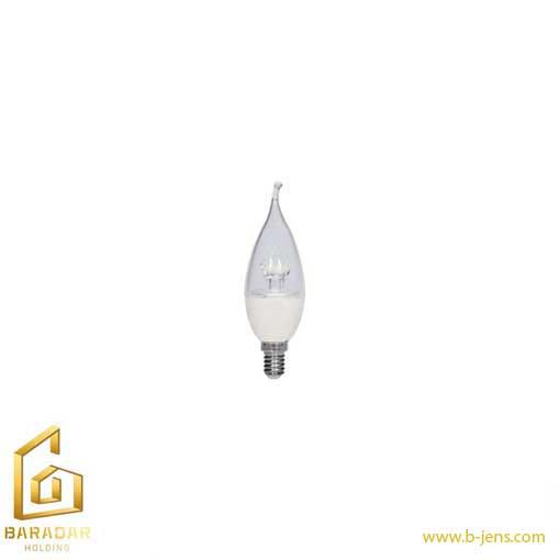 قیمت لامپ الایدی شمعی شفاف لنز ستاره ای 6 وات