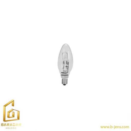 قیمت لامپ هالوژن شمعی شفاف 28 وات