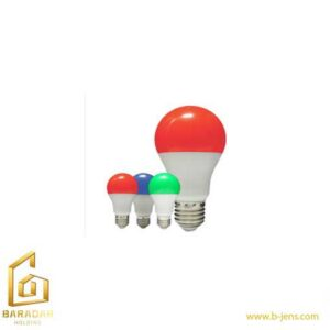قیمت لامپ LED حبابی رنگی 9وات