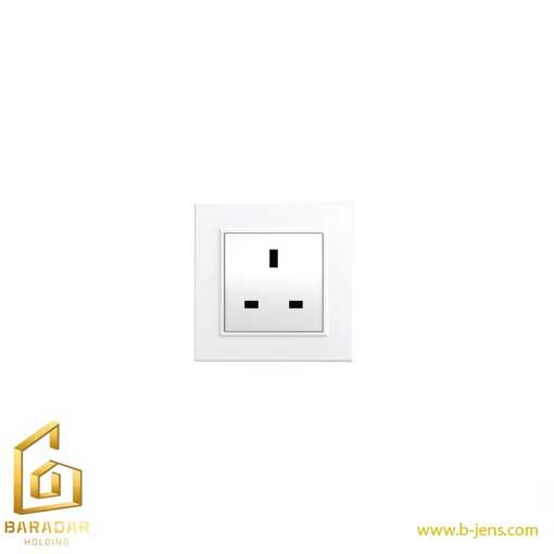قیمت پریز برق (BS-1363) برلیان سفید و کرم (زیرین ورویه) ایران الکتریک